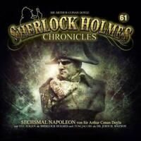 SHERLOCK HOLMES CHRONICLES - SECHSMAL NAPOELON FOLGE 61   CD NEW