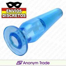 Plug anal dilatador azul para dedo.Agrandador ampliador,masturbador extensor ano