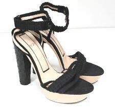 "N21 Alessandrro Dell""Acqua Ostrich platform heels 36 uk 3"