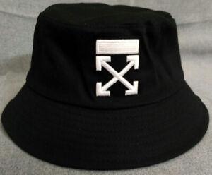 New Off White Unisex Hat Beach Bucket Cap Outdoor Packable Hat