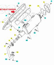 Paracalore protezione Marmitta Scarico Terminale Yamaha czd 300 a Xmax x Max 17