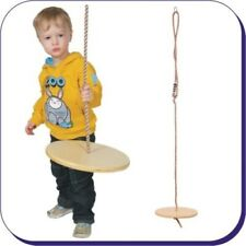 Wooden Monkey Swing Seat with Ropes & Adjusters for Kids Climbing Frame NEW