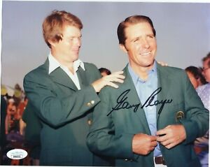 MASTERS WINNER GARY PLAYER SIGNED MASTERS 8X10 PHOTO WITH JSA+