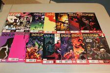 Complete Set Inhuman 1-14 & Annual 2014 1st App NM Black Bolt Medusa Maximus HTF