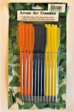 Pvc Bolt Body Arrows For 50/80 Lbs Crossbow - 12 Pack Metal Tips Assorted Colors