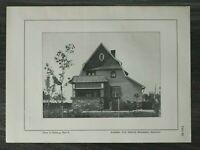 GFA) Blatt Haus in Dieburg 1926 Architektur Prof Heinrich Metzendorf Bensheim ++