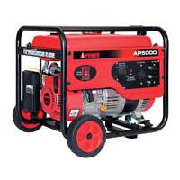A-iPower 5000W Gasoline Powered 7.5 HP Recoil Start Portable Generator AP5000