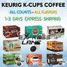 Keurig Coffee K Cups 40/72/80/100 Capsules Light or Dark Roast lot ALL FLAVORS