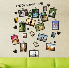 20 PCs Picture Photo Frame Set Wall Black Sticker Vinyl Decal Decor Home Art DIY
