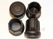 """(4) NEW 1 1/8"""" HEAVY RUBBER CANE TIPS FOR WALKING STICKS, CRUTCHES, & WALKERS"""