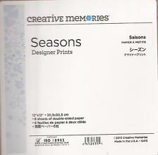 3 packs CREATIVE MEMORIES Seasons DESIGNER PRINTS 12x12 18 sheets Double Sided