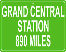 Grand Central Station in New York City, NY custom mileage sign your house