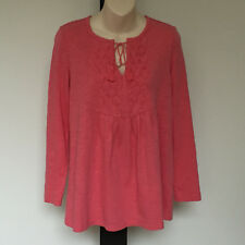 'BLUE ILLUSION' BNWT SIZE '3L' ORANGE COTTON PLEATED FRONT LONG SLEEVE TOP