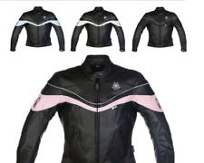 Richa Rythem Ladies Leather Motorcycle Motorbike Jacket, Black/blue, 36