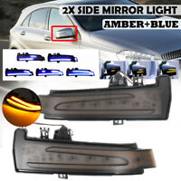 Dynamic Dual LED Side Mirrors Indicator Turn Signal Light For Mercedes W2