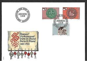 SWITZERLAND 1981 FDC, ENTRY OF FRIBOURG & SOLOTHURN INTO THE SWISS FEDERATION !!