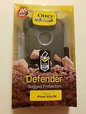 USED - NO SCREEN Authentic Otterbox Defender Case / Clip iPhone 5 / 5s / SE BLUE