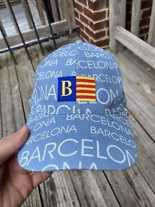 BARCELONA All Over Print Flag Adjustable Size Hat Cap Spain