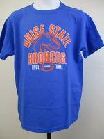 """New Boise State Broncos Youth Sizes M-L Football """"Blue Turf"""" Shirt"""
