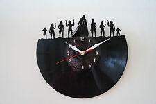 Darth Vader Army, Star W. Design vinyl record wall clock [ black gloss sticker ]