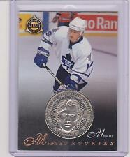 RARE 1997-98 PINNACLE MINT ALYN MCCAULEY SILVER PROOF COIN & CARD #28 ~ 1 OF 250