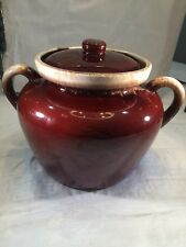 McCoy USA Pottery Vintage Brown Drip ware Cookie Jar /  Bean Pot  # 342