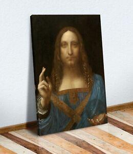 Leonardo Da Vinci Salvator Mundi CANVAS WALL ART FRAMED PRINT ARTWORK PAINTING