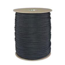Wholesale BULK spool 1000 Foot Black Parachute Cord Paracord Type III 550