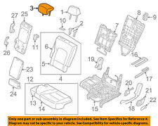 HYUNDAI OEM Santa Fe Second Row Back Rear Seat-Headrest, Center 89700B8160R6X