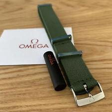 Omega NATO Military green polyester strap + Omega springbars • 21-22mm • NEW