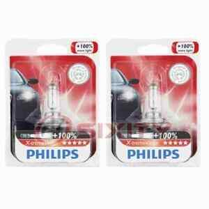 2 pc Philips High Beam Headlight Bulbs for Porsche 911 Boxster Cayenne ir
