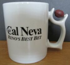 "CLUB CAL NEVA,   RENO'S BEST BET   LARGE SPORTS COFFEE MUG  4 1/4""   12 OZ"