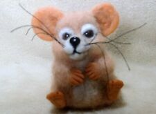 Ooak needle felted artist handcraft / handmade mouse rat rodent animated - cute