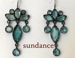NEW $295 Sundance Apatite JANE DIAZ Palatia Chandelier Sterling Silver Earrings