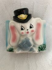 Vintage Japan Ceramic Planter BUNNY Rabbit With TOP HAT