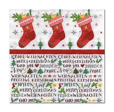 4 lose Motivservietten Servietten Napkins Weihnachten Stiefel Nikolaus (394)