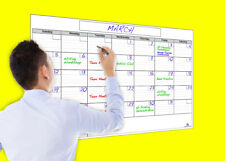 """USI Dry Erase Monthly Wall Calendar, 24""""x36"""", NEVER LEAVES MARKER STAINS!"""