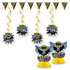 7 Piece Batman DC Comics Children's Birthday Party Room Decoration Kit Set