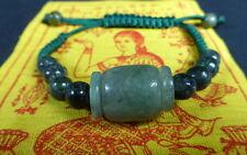 Buddha Sacred REAL JADE BEAD BRACELET + PHA YANT