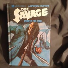 Doc Savage 'Quest Of Qui' Golden Press hardback book, USA 1975 Pre-Owned
