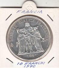 FRANCIA MONETA  PEZZO 10 FRANCHI IN CONFEZIONE OBLO' SILVER 10 FRANCS  1970