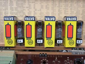 "Matched Quad VALVO MULLARD EL34 Xf4 B0C1 NOS Röhre Tube Valve ""GUT"" ABCD"