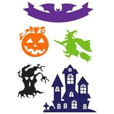 Little B Halloween Icons Cutting Dies Haunted House Witch Spooky Tree Bat Banner