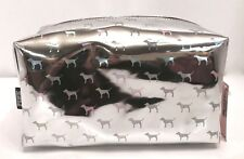 VICTORIA'S SECRET PINK HOLO DOGGY BEAUTY COSMETIC TRAVEL CASE BAG NEW!