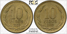 2003 Chile 10P Pcgs Ms62 Two-tails 15 exist! TrueView - RicksCafeAmerican.com