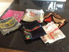 Lote De Trabajo Damas Vintage bufandas de seda y satén, total de 6 in (approx. 15.24 cm)