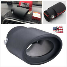 DIY Black Titanium 63mm Stainless Steel Car Exhaust Pipe Tail Tip Muffler Cover