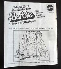 CATALOGHINO BARBIE ISTRUZIONI MAGIC CURL 1981
