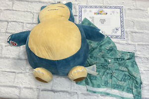Pokemon Build A Bear SNORLAX with Sound, Robe, Hat, & Certificate New with Tags