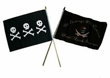 "12x18 12""x18"" Wholesale Combo Pirate Chris Condent & Beatings Morale Stick Flag"